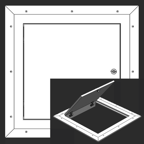 8 x 8 Hinged Square Corner - Access Panel for Ceilings Best Access Doors Canada