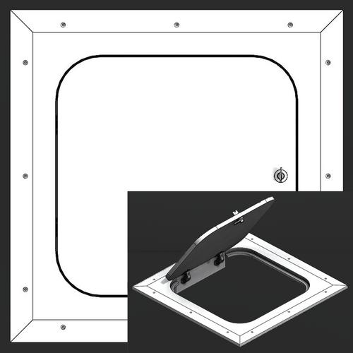 8 x 8 Hinged Radius Corner - Access Panel for Ceilings Best Access Doors Canada