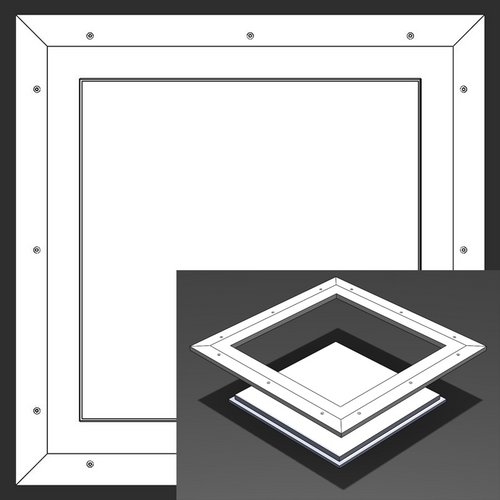 18 x 18 Pop-Out Square Corner - Access Panel for Ceilings Best Access Doors Canada