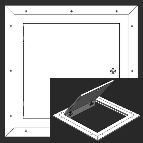 24 x 24 Hinged Square Corner - Access Panel for Ceilings Best Access Doors Canada