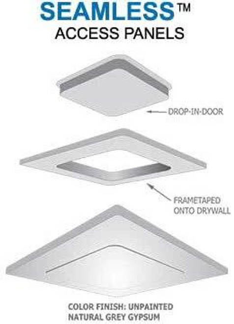16 x 30 Pop-Out Radius Corner - Access Panel for Ceilings Best Access Doors Canada