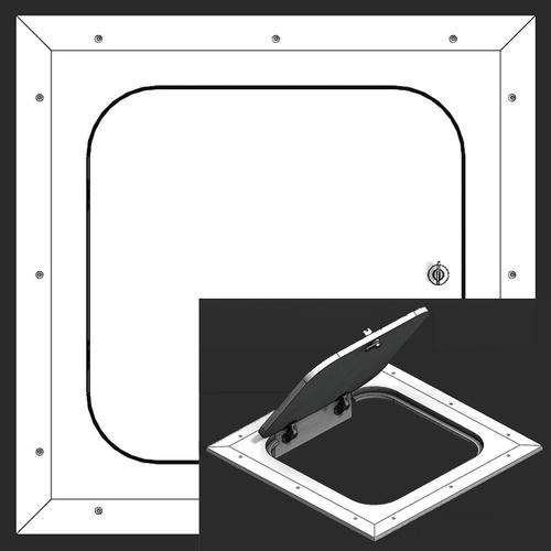 9 x 20 Hinged Radius Corner - Access Panel for Ceilings Best Access Doors Canada