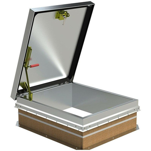 36 x 30 Aluminum Cover with Galvanized Steel Miami-Dade Approved - Roof Hatch Best Access Doors Canada
