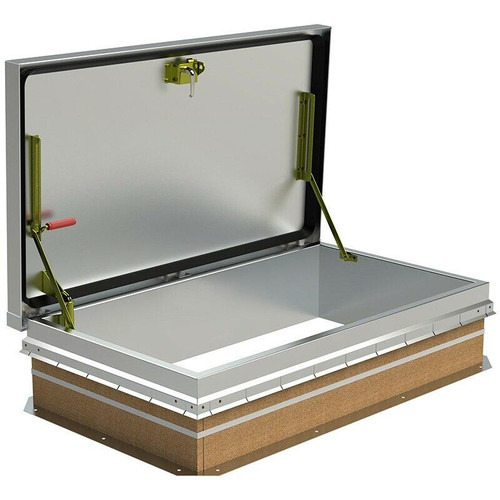 30 x 54 Aluminum Cover with Galvanized Steel Ship Stair Access Roof Hatch Best Access Doors Canada