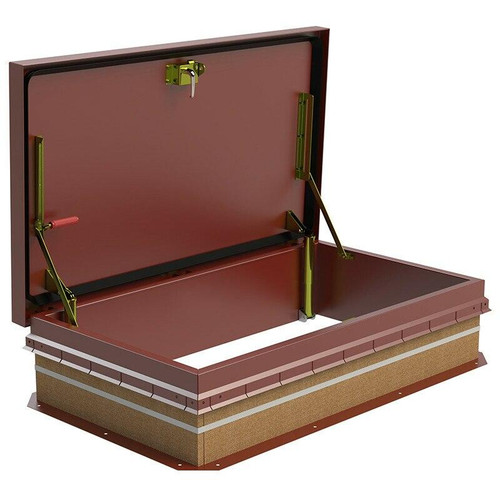 30 x 54 Copper Ship Stair Access Roof Hatch Best Access Doors Canada