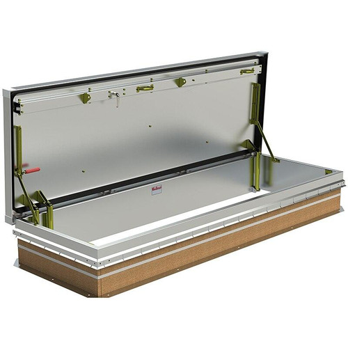 30 x 96 Aluminum Cover with Galvanized Steel Service Stair Access Roof Hatch Best Access Doors Canada
