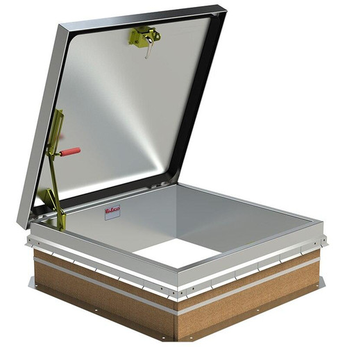 36 x 36 Aluminum Cover with Galvanized Steel Ladder Access Roof Hatch Best Access Doors Canada