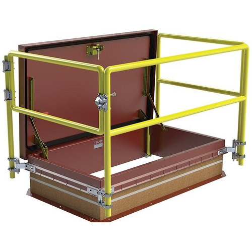30 x 54 Ship Stair Access Thermally Broken Roof Hatch Railing System Best Access Doors Canada