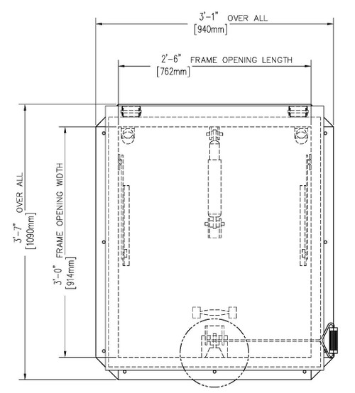 36 x 30 Aluminum Domed Automatic Smoke Vent Best Access Doors Canada