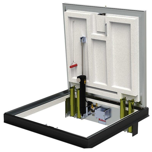 36 x 36 Aluminum Fire Rated Floor Door without Automatic Closing System Best Access Doors Canada
