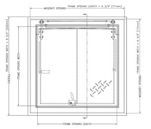 36 x 30 Aluminum Standard Non-Drainage Floor Door Type BA-K Best Access Doors Canada
