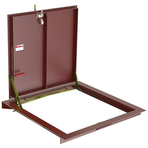 48 x 30 Steel Standard Double Leaf Non-Drainage Floor Door Type BA-Q Best Access Doors Canada