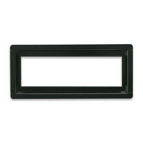 "4"" x 10"" InvisaVent -  Standard Black Semi-Gloss Tray  Floor Vent | Best Access Doors Canada"