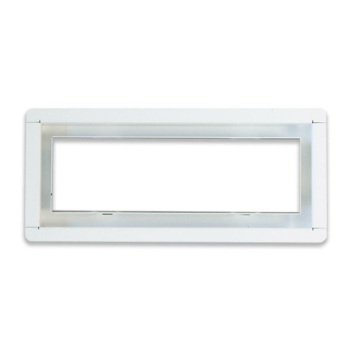 "4"" x 10""  InvisaVent - Standard White Semi-Gloss Tray Floor Vent | Best Access Doors Canada"