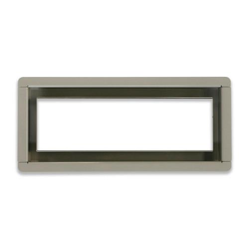 "4"" x 10""  InvisaVent -  Standard Grey Semi-Gloss Tray Floor Vent  | Best Access Doors Canada"