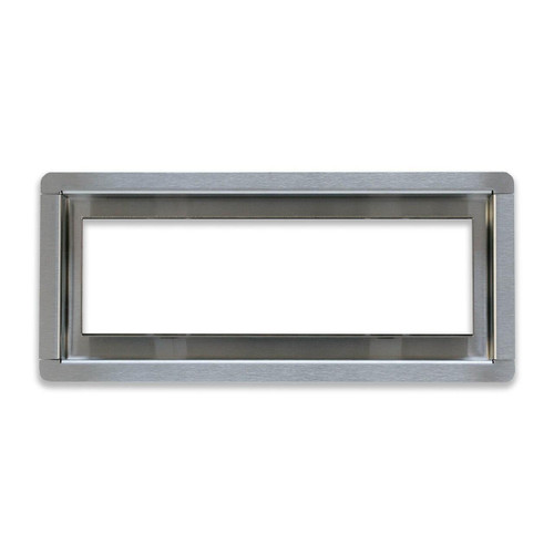 """4"""" x 10""""  InvisaVent -  Premium Brushed Stainless Steel Tray Floor Vent Best Access Doors Canada"""