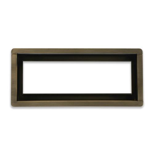 "4"" x 10""  InvisaVent -  Premium Brushed Bronze Tray Floor Vent | Best Access Doors Canada"