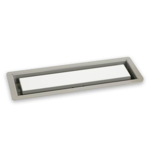 "3"" x 10"" InvisaVent - Standard Stone Grey Semi-Gloss Tray Floor Vent | Best Access Doors Canada"