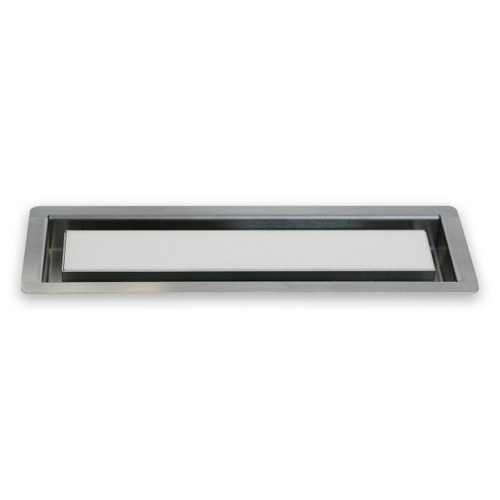 """3"""" x 10"""" InvisaVent - Premium Brushed Stainless Steel Tray Floor Vent 