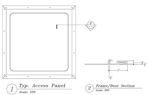 18 x 18 Gypsum Access Panel Best Access Doors Canada