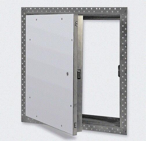 16 x 16 Fire Rated Un-Insulated Recessed Door for Drywall Best Access Doors Canada