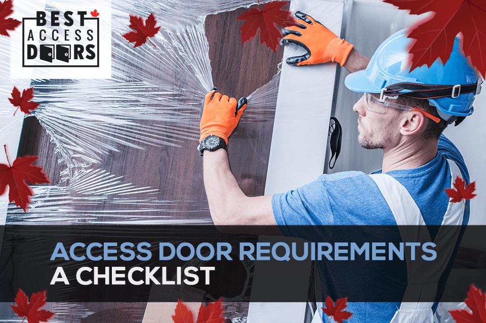 Access Door Requirements: A Checklist