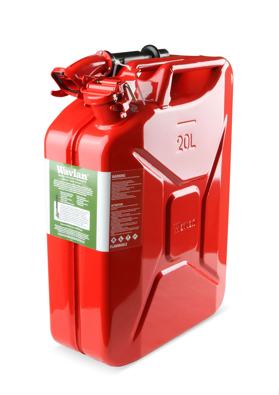 3009AOR Anvil Jerry Can  Red - 5.3 Gallon (20 Liter) – Steel w/ Safety Cap & Spout