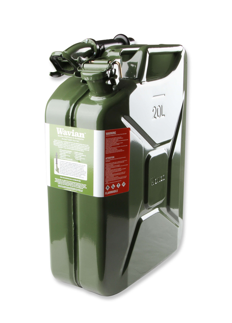 3008AOR Anvil Jerry Can Green - 5.3 Gallon (20 Liter) – Steel w/ Safety Cap & Spout -