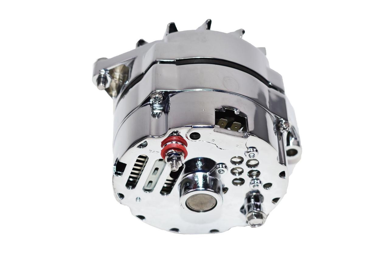 GM Chrome 100 AMP Alternator 1 wire Power Hookup brand new