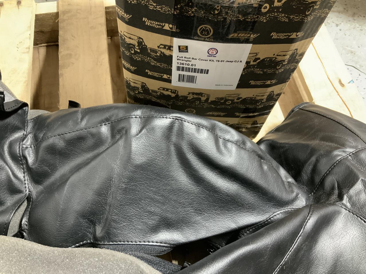 Rugged Ridge 13610.01 Roll Bar Cover Kit Fits 76-91 CJ5 CJ7 Scrambler Wrangler