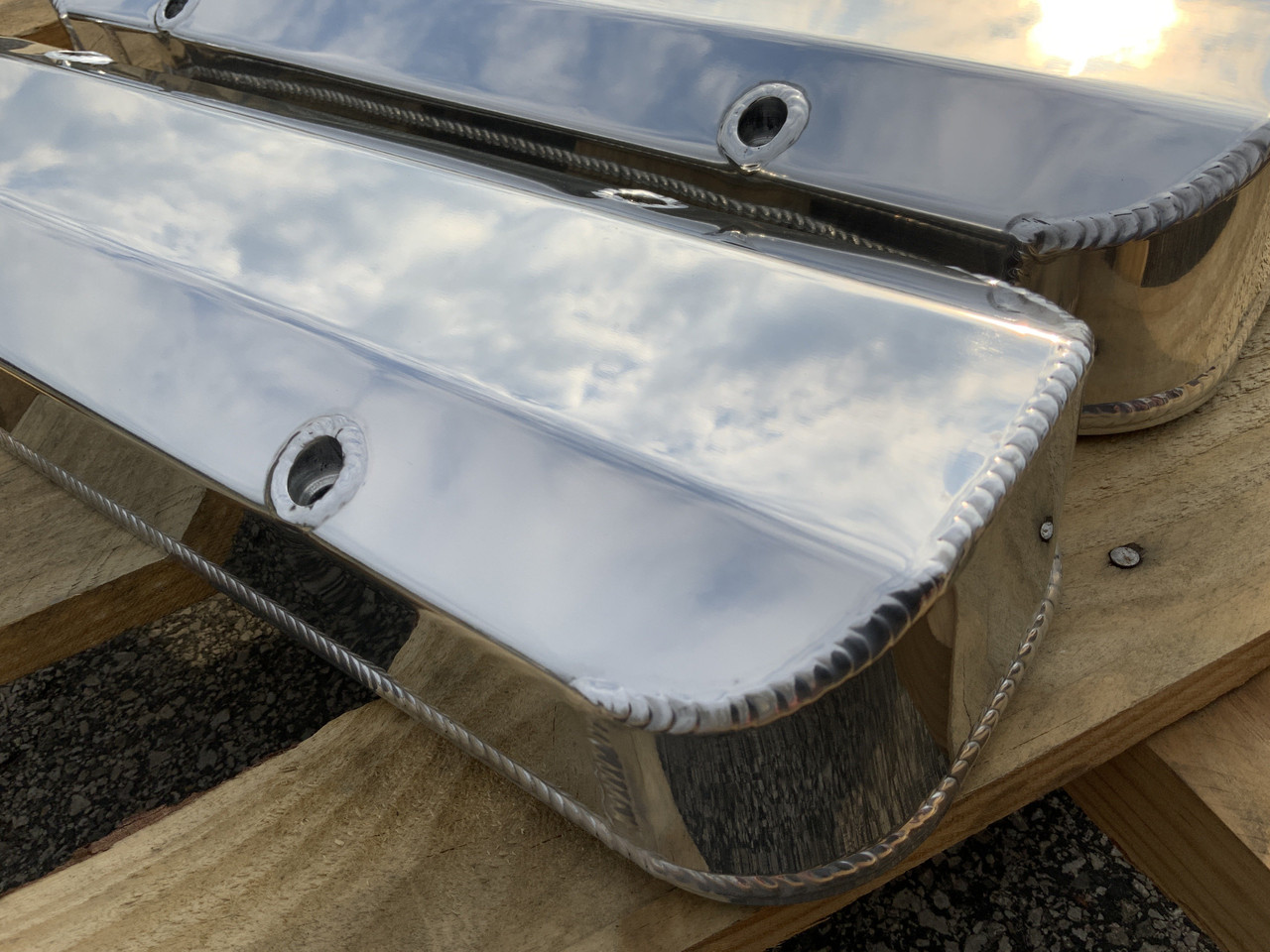Pontiac 326 350 389 400 426 Fabricated Aluminum Valve Covers Etched GTO
