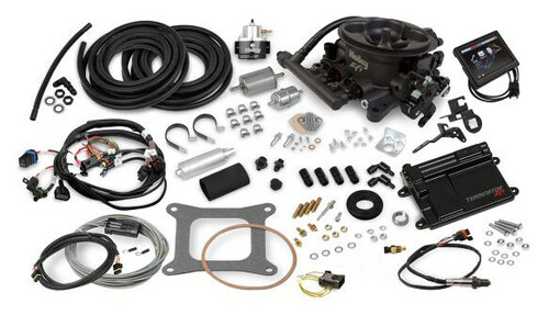 550-406K Holley EFI Terminator EFI 4bbl Throttle Body Fuel Injection Master Kit - Hard Core Gray