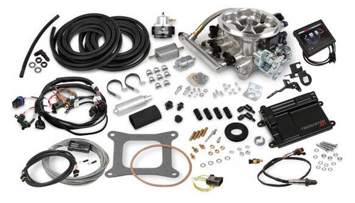 550-405K Holley EFI Terminator EFI 4bbl Throttle Body Fuel Injection Master Kit - Tumble Polished