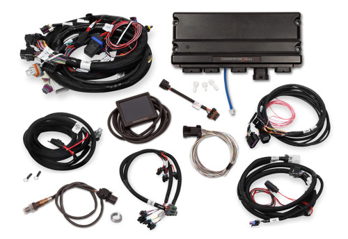 550-927 Holley EFI Terminator X Max Early Truck 24X/1X LS MPFI Kit with DBW Throttle Body and Transmission Control