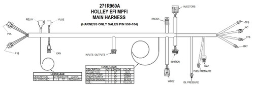 558-104 Holley EFI Universal MPFI Main Harness