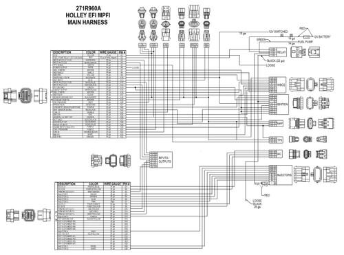 558-508 Holley EFI Universal Ford V-8 Harness Kit