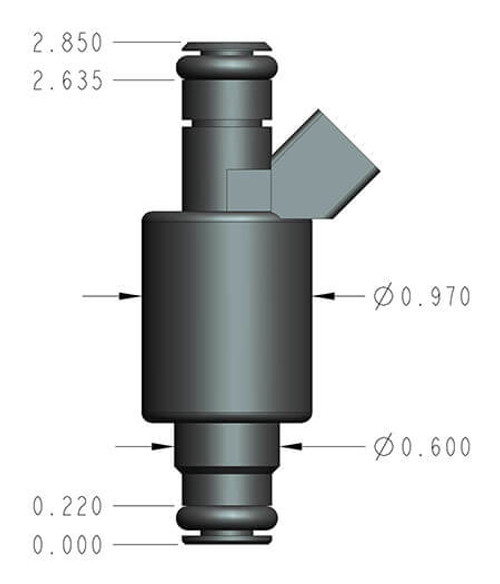 522-421 Holley EFI 42 lb/hr Performance Fuel Injector - Individual