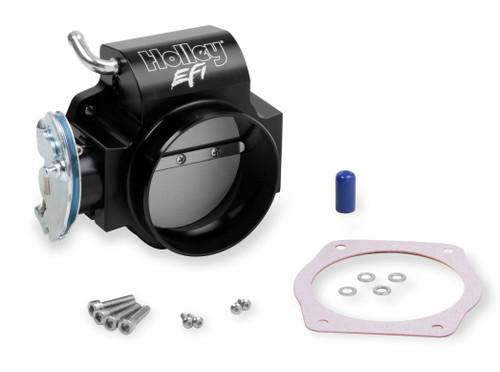 112-589 Holley EFI BILLET 90mm LS Throttle Body w/low RPM Taper