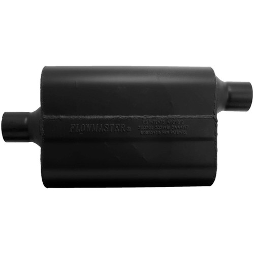 942447 Flowmaster Super 44 Muffler - 2.25 Center In / 2.25 Offset Out - Aggressive Sound