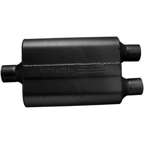 9424422 Flowmaster 40 Delta Flow Muffler - 2.25 Center In / 2.25 Dual Out - Aggressive Sound