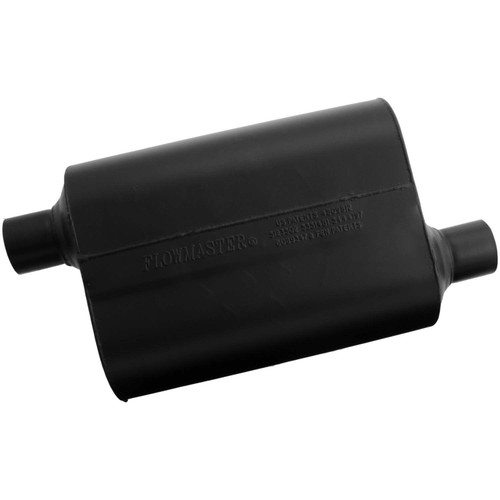 952448 Flowmaster Super 40 Muffler - 2.25 Offset In / 2.25 Offset Out - Aggressive Sound