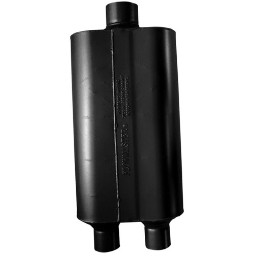 8524553 Flowmaster Super 50 Muffler 409S - 2.25 Dual In / 3.00 Center Out - Mild Sound