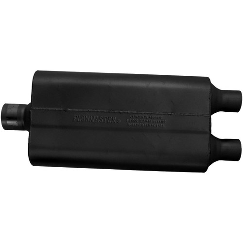 9425502 Flowmaster 50 Delta Flow Muffler - 2.50 Center In / 2.00 Dual Out - Moderate Sound
