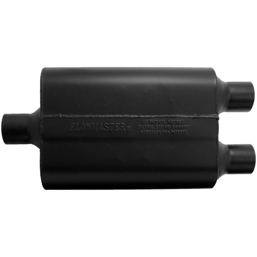 9424472 Flowmaster Super 44 Muffler - 2.25 Center In / 2.25  Dual Out - Aggressive Sound