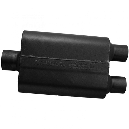 8430452 Flowmaster Super 44 Series Muffler 409S - 3.00 Center In / 2.50 Dual Out - Aggressive Sound
