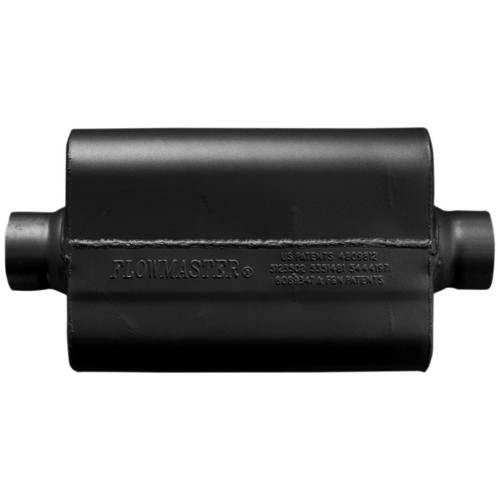 8325508 Flowmaster 50 Series Race Muffler 409SS - 2.50 Center In / 2.50 Center Out -Aggressive Sound