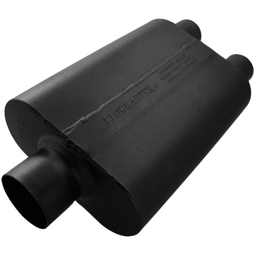 8430402 Flowmaster 40 Delta Muffler 409S - 3.00 Center In / 2.50 Dual Out - Aggressive Sound