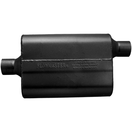 942442 Flowmaster 40 Delta Flow Muffler - 2.25 Center In / 2.25 Offset Out - Aggressive Sound