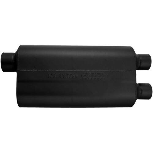 9530582 Flowmaster 50 H.D. Muffler - 3.00 Offset In / 2.50 Dual Out - Moderate Sound