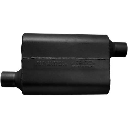 942443 Flowmaster 40 Delta Flow Muffler - 2.25 Offset In / 2.25 Offset Out - Aggressive Sound